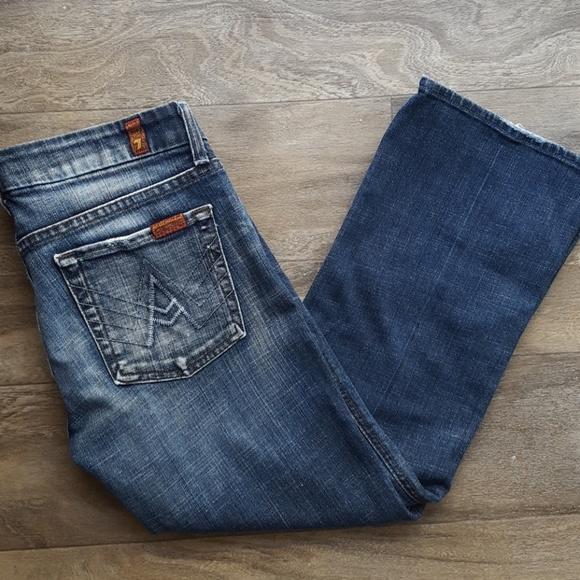 "7 For All Mankind Denim - Seven Jeans - Crop ""A"" Pocket"